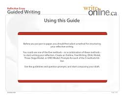 write online guided writing tool reflective essay writing prompts space p1