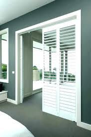 plantation shutters for sliding glass doors cost door do