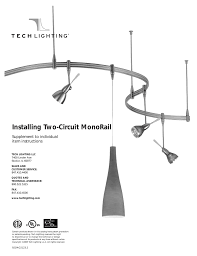 Installing Two Circuit Monorail Supplement To Individual