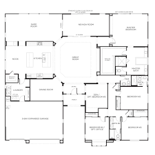 5 bedroom floor plans. Awesome 5 Bedroom One Story Floor Plans Collection Also Two Homes Home Nrtradiant Storey Images House Plan N