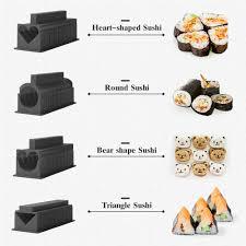 <b>Sushi Maker</b> kit 5 Unique Mold Shapes <b>10PCS</b> Plastic kit DIY Home ...