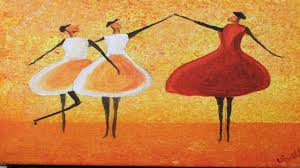 easy dancing girls easy acrylic painting for beginner step by step learn to paint clive5art you