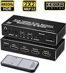 avedio links HDMI Switch 2 in 2 Out 4K@60hz, 2x2 ... - Amazon.com