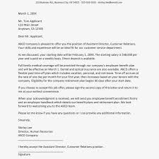 Letter Of Offer Template Employment Offer Letter Sample Magdalene Project Org