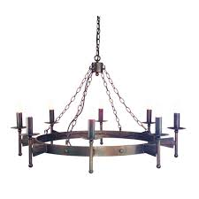 cw8 cromwell wrought iron ceiling 8 light