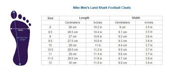 Nike Football Cleats Size Chart 34 Experienced Nike Youth Size Guide