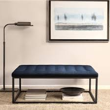 renate navy linen coffee table ottoman buzz2 upholstery fabric