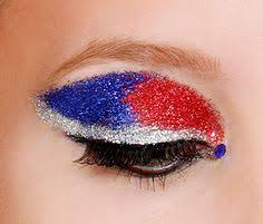 fourth of july glitter makeup