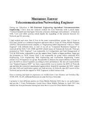 100 Cisco Engineer Resume Telecom Uat Manager Cover Letter
