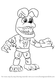 how to draw nightmare bonnie from five nights at freddy s