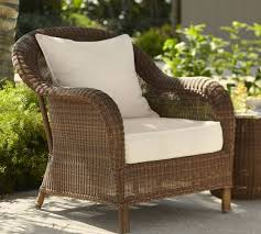 Wicker patio chairs Armless Palmetto Allweather Wicker Armchair Pottery Barn Wicker Chairs Rattan Chairs Outdoor Chairs Pottery Barn