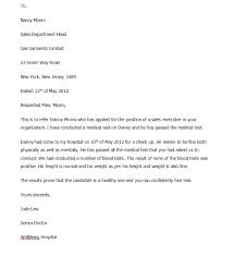 Referral Letters Sample Referral Letter From Doctor Free Sample Letters