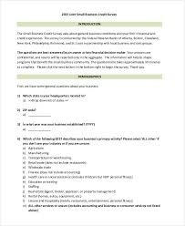 Questionnaire Questions For A Business Questionnaire Examples For Businesses Magdalene Project Org