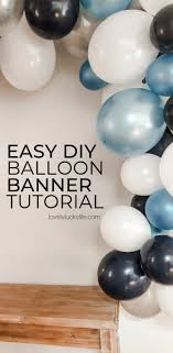Easy balloon decoration ideas for birthday party/baby shower | balloon flower decoration on wall. How To Make A Seriously Easy Balloon Garland Lovely Lucky Life
