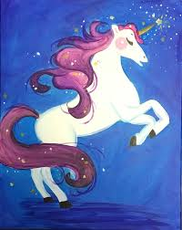 Wine And Design Fredericksburg Sparkles The Unicorn New Painting By Fxbg Artist Rachel 11 00 12 30