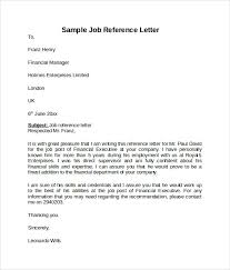 reference letter examples for a job example of job reference under fontanacountryinn com