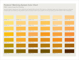 Free Pantone Color Chart Pdf Pantone Color Chart Template 7 Free Word Excel Pdf Documents