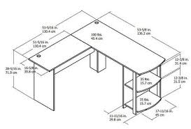 l shaped desk dimensions. Fine Dimensions 1  In L Shaped Desk Dimensions Walmart Canada