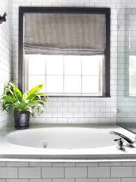 subway tile with black grout