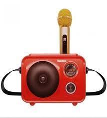Bluetooth Hoparlör Karaoke Mikrofon Yeni Nesil Mükemmel Kalite Kırmızı