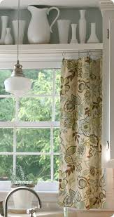 Discount kitchen curtains, swags, tiers and valances. Curtain And Shelf Above Kitchen Window Idea For Above Kitchen Doors Home Home Decor Kitchen Sink Window