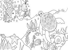 Small Picture Coloring Pages Under The Sea Sea Coloring Page Best Pages 2017
