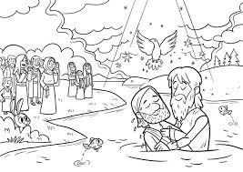 Kinderwoorddienst Kleurplaat De Doop Van Jezus Regarding