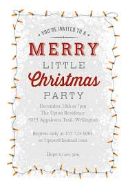Free Christmas Invitation Template A Merry Little Party Christmas Invitation Template Free