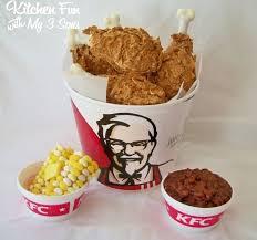 kfc fried chicken bucket. Perfect Fried April Fools Day KFC Kentucky Fried Chicken Meal U0026 Sides Dessert And Kfc Bucket U