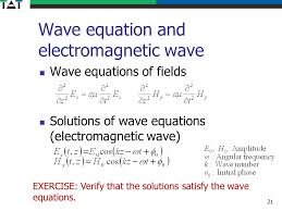 21 wave equation and electromagnetic