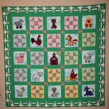Farm animal applique PDF baby or childs quilt pattern cat dog & Farm animal applique PDF baby or childs quilt pattern; cat dog duck goat quilt  pattern; shoo fly block; Fancy Farm baby girl quilt pattern Adamdwight.com