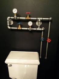 man cave bathroom. Interesting Bathroom Decorative Piping My Hubby Made For The Man Cave Bathroom Inside Man Cave Bathroom V