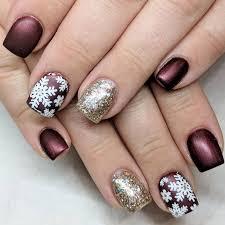 50 cute snowflake nail art designs for