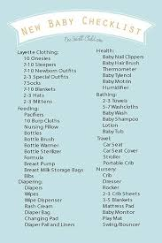 Free Printable New Baby Checklist Baby Checklist New Baby