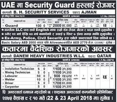 Job Demand From Uae And Qatar, Job Vacancy For Security Guard, Job ...