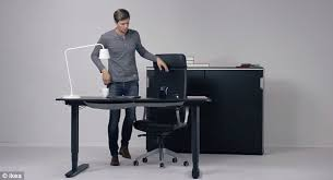 Standing Office Desk Ikea Beautiful Ikea Rising Desk Reveals Convertible Standing That Can Become A Normal Office