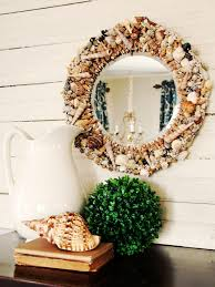 Diy Large Wall Mirror How To Make A Seashell Mirror Hgtv