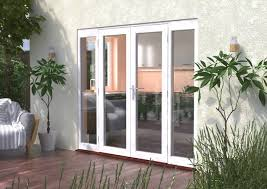 classic white wooden french patio doors