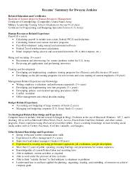 Resume' Summary for Dwayne Jenkins Related Education and Certificates  Bachelor of Science degree in Human ...