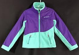 Columbia Xxs Size Chart Columbia Fleece Zip Up Jacket Girls Size Xxs 4 5 Purple