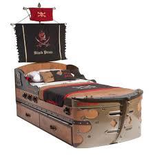 <b>Кровать</b>-<b>корабль</b> 90х190 <b>BLACK</b> PIRATE <b>Cilek</b>