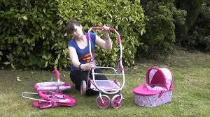 Roxy Roller 3 In 1 Dolls Toy Pram Combination Pushchair Carrycot Car ...