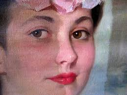 how clean a painting portrait closeup professional snapshoot cleaning oil services