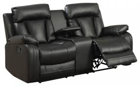 avery bonded leather loveseat black for