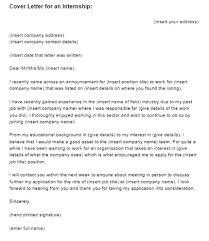 internship cover letter cover letters for internship