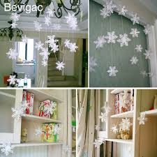 Bevigac 12 PCS Winter Wonderland Snowflake Ornaments with String Hanging  Decoration For Christmas Tree Window Wall