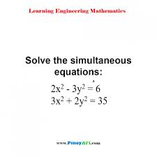 prepossessing solution solve the simultaneous equations x y and algebra um size