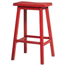 29 inch bar stools. Contemporary Style 29 Inch Bar Height Saddle Seat Stools | Red Finish, Wood Frame, Home Decor (Set Of 2) Q