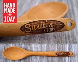 personalised wooden spoon end wooden spoon personalized spoon wooden spoon gift for her baking gift cooking gift end spoon