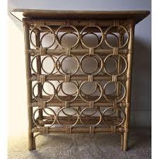 wine rack bar table. Bamboo Rattan Wine Rack Bar Table - Image 3 Of 9 L
